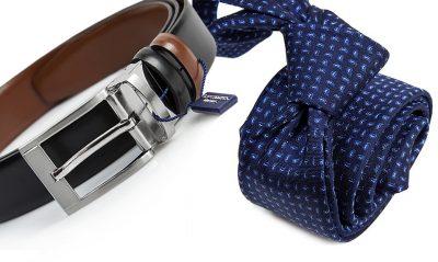 zestaw upomnikowy: Krawat + pasek s631