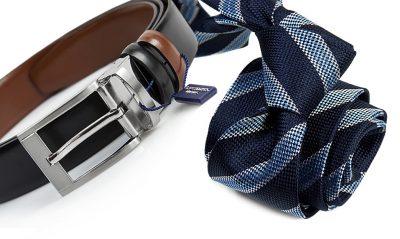 zestaw upomnikowy: Krawat + pasek s632