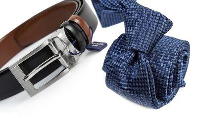 zestaw upomnikowy: Krawat + pasek s633