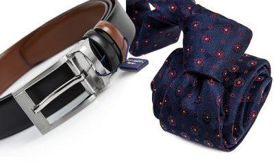 zestaw upomnikowy: Krawat + pasek s634