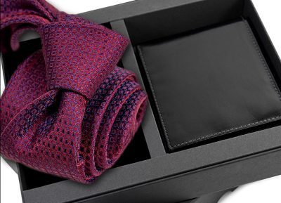 zestaw upominkowy: Krawat jedwabny 635 + portfel