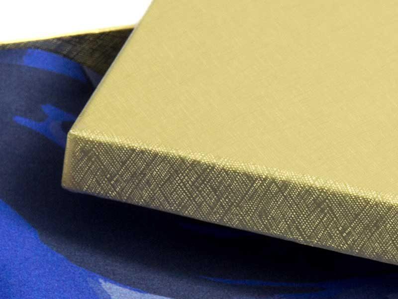 pudełko kartonowe 150x150x25mm zlote 2-